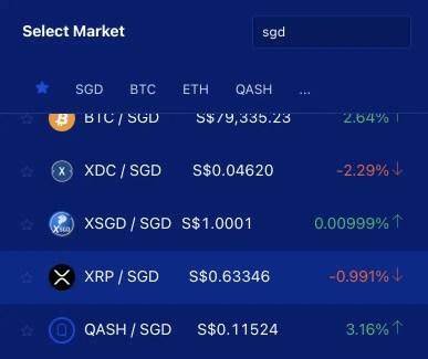 Liquid XRP SGD Trading Pair