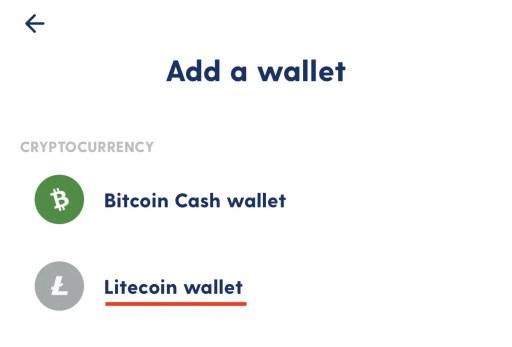 Luno Create Litecoin Wallet