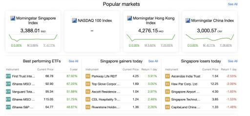 SaxoInvestor Web Platform