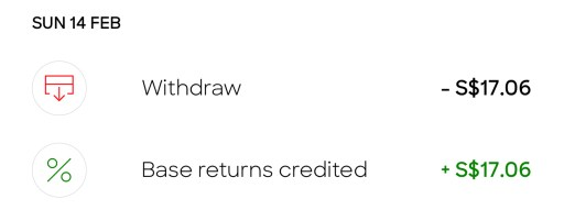 SingLife Returns Credited