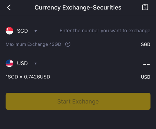 Tiger Brokers SGD to USD Rate