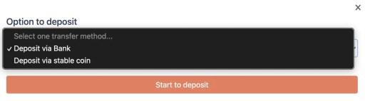 Tokenize Deposit USD Bank Transfer