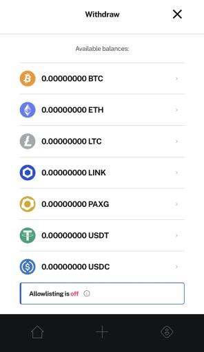 BlockFi Withdraw Currencies