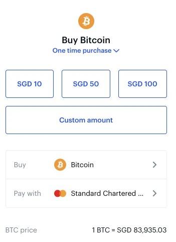 Coinbase BTC Buy Page