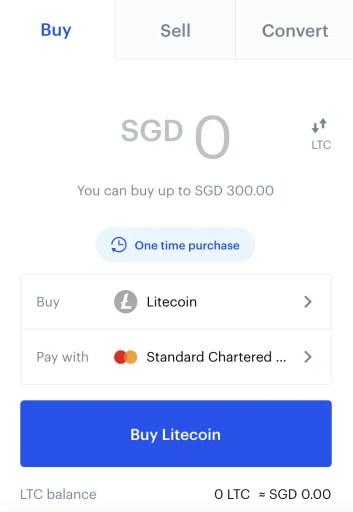 Coinbase Buy LTC