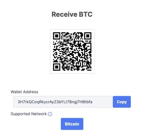 Coinhako Receive BTC Address