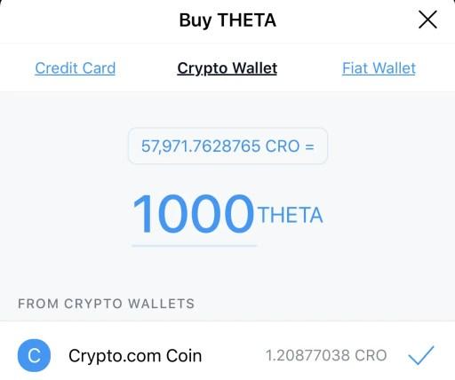 Crypto.com App Buy THETA Crypto Wallet