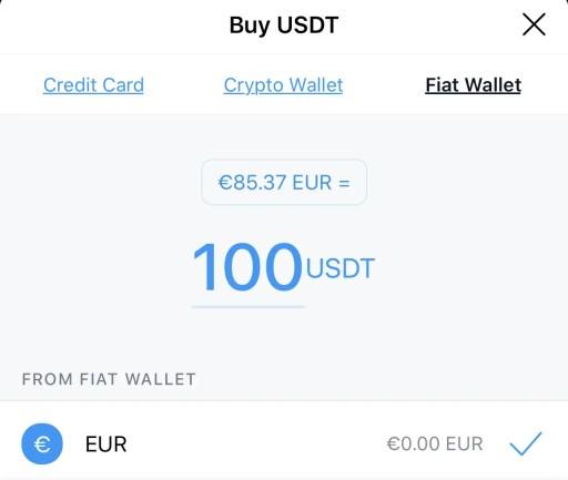Crypto.com App Buy USDT With Fiat Wallet