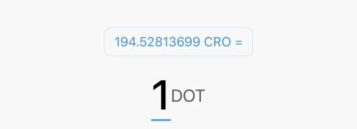 Crypto.com App CRO DOT Exchange Rate
