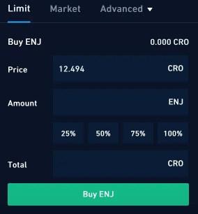 Crypto.com Exchange Buy ENJ
