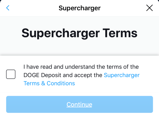 Crypto.com Supercharger Accept Terms and Conditions