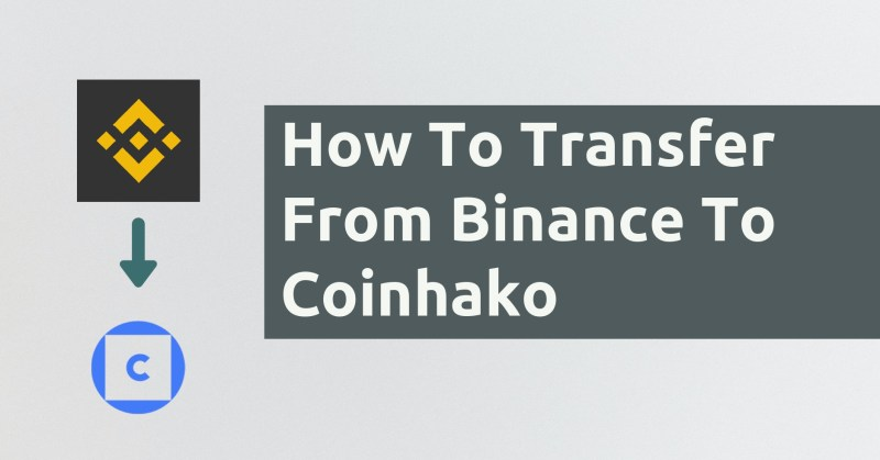 How To Transfer From Binance To Coinhako