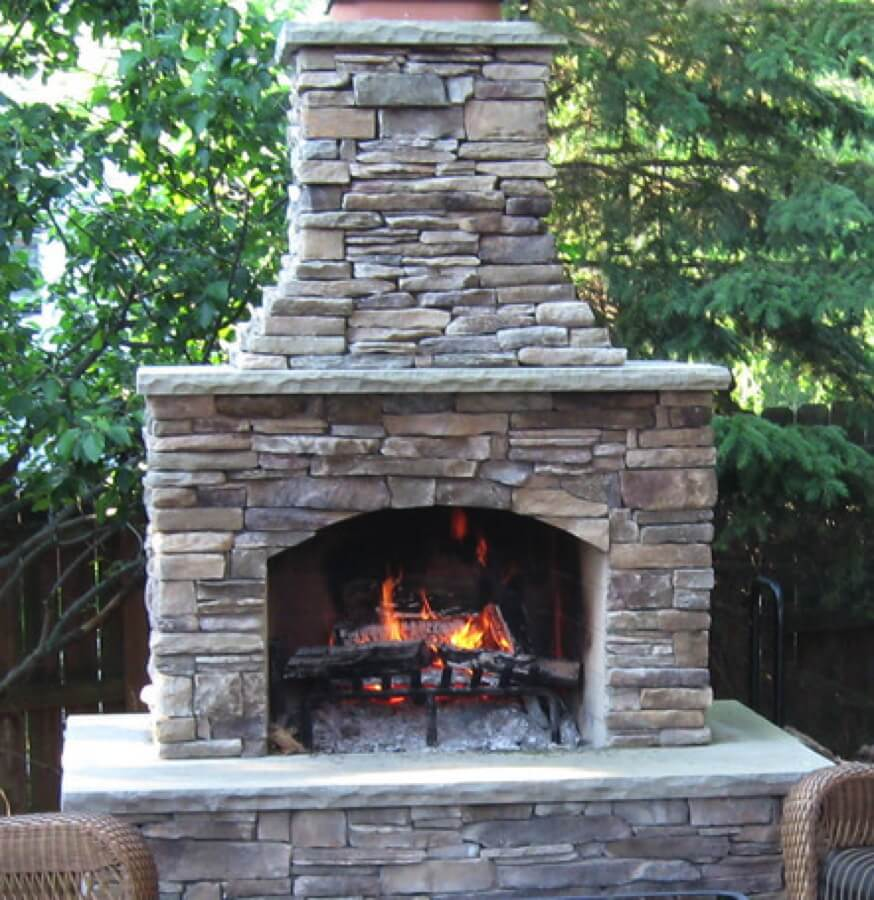 Outdoor Fireplace Kit, Masonry Outdoor Fireplace, Stone ... on Simple Outdoor Brick Fireplace id=34515