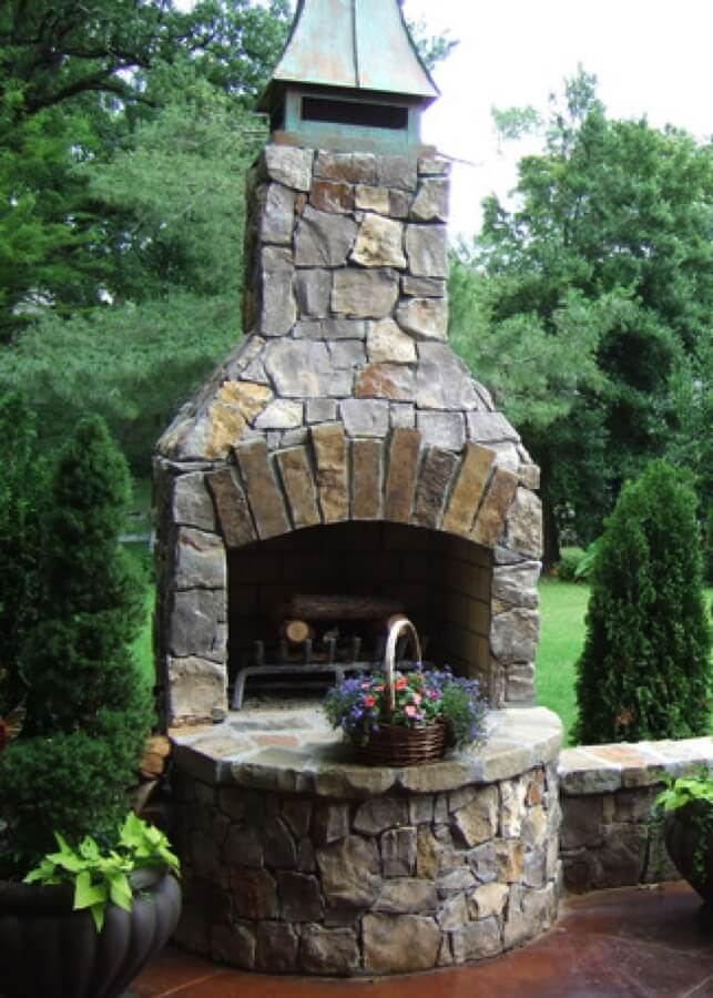 Outdoor Fireplace Kits - Masonry Fireplaces - Easy ... on Simple Outdoor Brick Fireplace id=30711