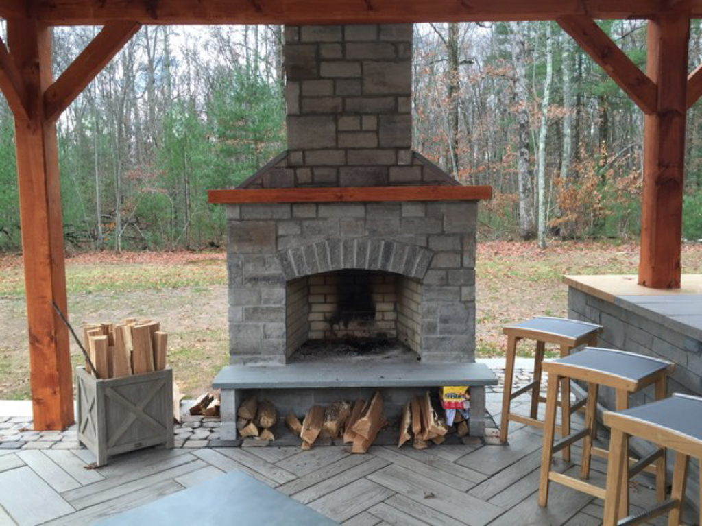 Outdoor Fireplace Kits - Masonry Fireplaces - Easy ... on Simple Outdoor Brick Fireplace id=62944