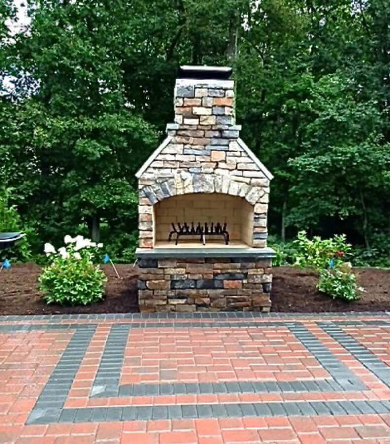 Outdoor Fireplace Kits - Masonry Fireplaces - Easy ... on Simple Outdoor Brick Fireplace id=52807