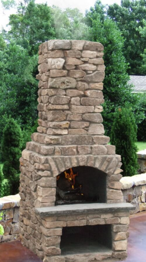 Outdoor Fireplace Kits - Masonry Fireplaces - Easy ... on Simple Outdoor Brick Fireplace id=56935
