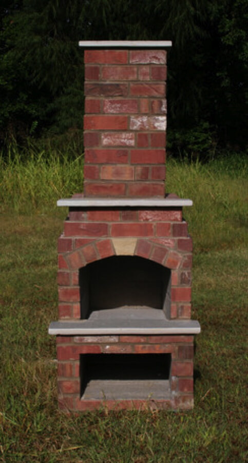 Outdoor Fireplace Kits - Masonry Fireplaces - Easy ... on Simple Outdoor Brick Fireplace id=30762