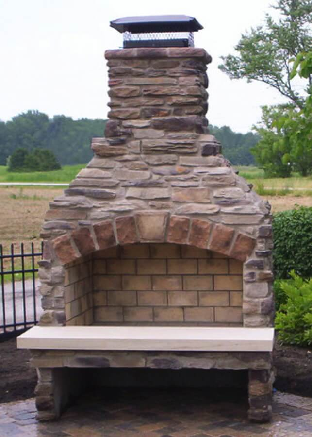 Outdoor Fireplace Kits - Masonry Fireplaces - Easy ... on Simple Outdoor Brick Fireplace id=29108
