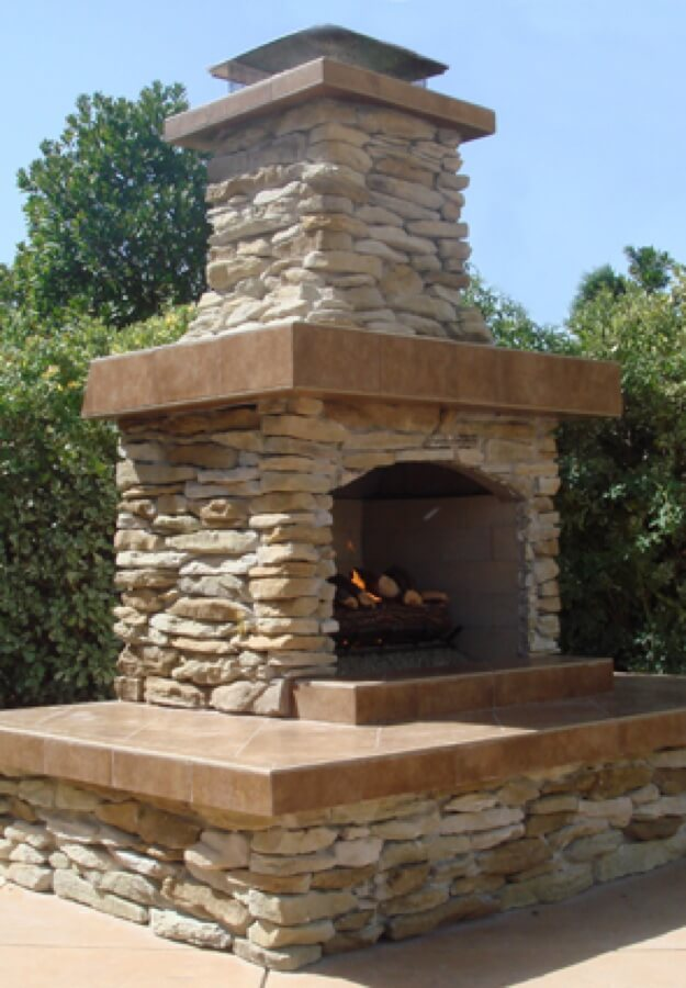 Outdoor Fireplace Kits - Masonry Fireplaces - Easy ... on Simple Outdoor Brick Fireplace id=60251