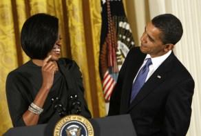 Obamas flirting two