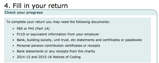 Fill in your tax return information