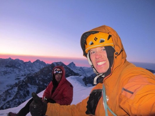 Clint and Scotty on the summit of Mausolus. Photo: Clint Helander