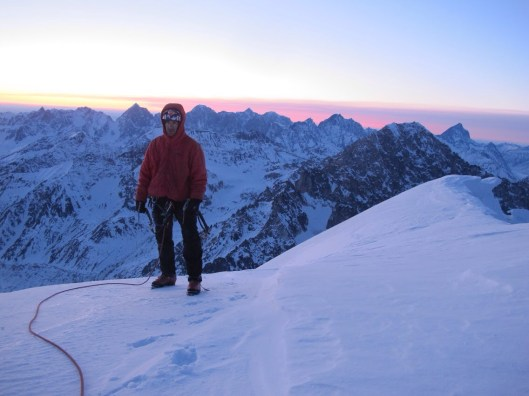 Scotty Vincik on the summit of Mt. Mausolus. Photo: Clint Helander