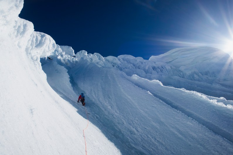 Alaska - The exit snow flutes on Celeno Peak (Photo: Chris Wright)