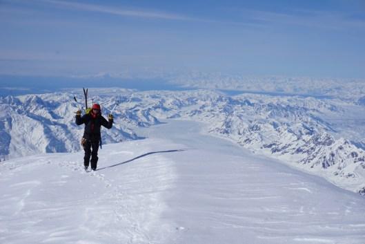 Summit Slopes of Mount Hunter, AK.