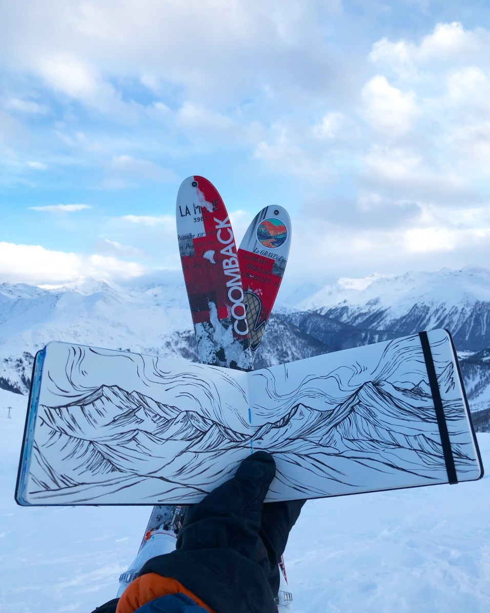 Drawing in Switzerland.
