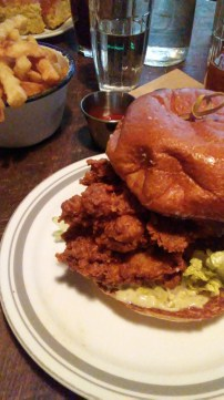Fried Chicken Sandwich with Crinkle Fries