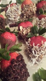 Cookies, Coconut, Chocolate, and Pecan Strawberries
