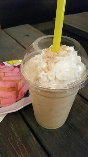 Pink Concha and Mazapan Frappe