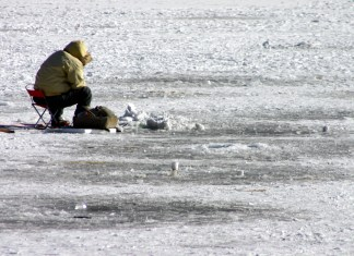 Ice Fishing in California