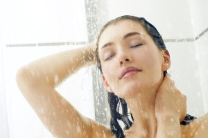 girl in shower