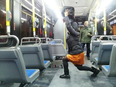 Bus(t) through any rut with OVERHEAD STATIONARY LUNGES. Bus it baby! (Plies voice, of course) Nia J. of The Bronx, NY