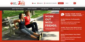 GoRedForWomen.org website landing page for #HeartHour Partner Workout