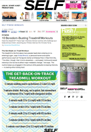 SELF Magazine |Expert Contributor, Workout Design | NOV 2013