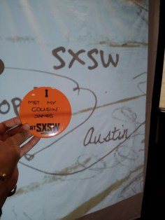 I met my cousin at SXSW!