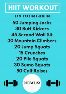 picture relating to Printable Hiit Workouts identified as Leg Bettering HIIT Exercise routine - The Minor Farmers Spouse