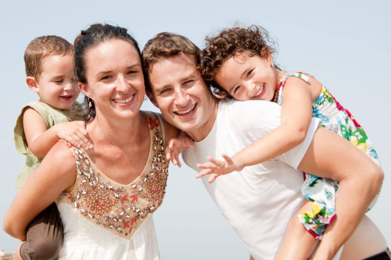 family beach vacation fitness