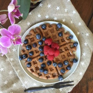 Chocolate Oat & Nut Waffles