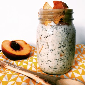 Peaches and Cream Overnight Oats (Gluten /Dairy Free)