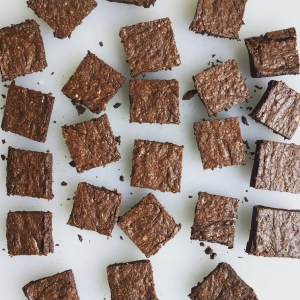 One Bowl Fudgy Chia, Oat and Espresso Brownies (GF, Refined Sugar Free)