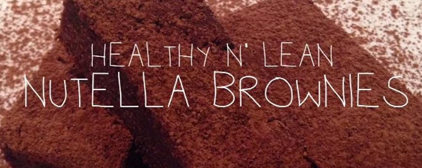 Low Sugar Nutella Brownies The Fitness Maverick