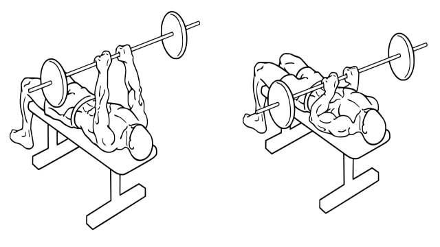 Close Grip Barbell Bench Press