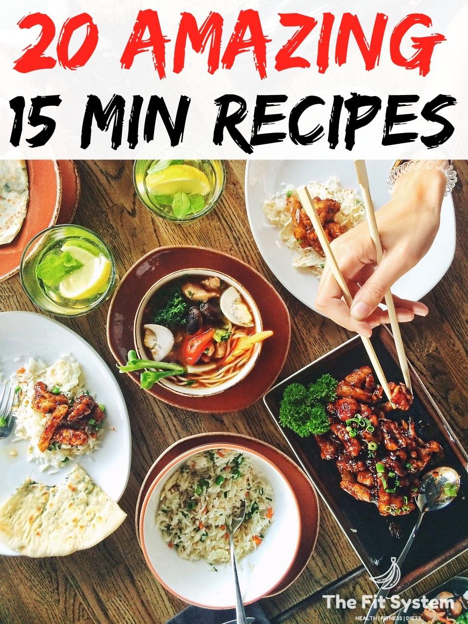 recipes under 15 minutes