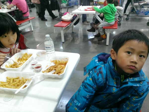 siblings at costco