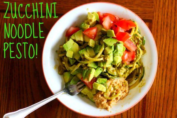 Zucchini Noodle Pesto